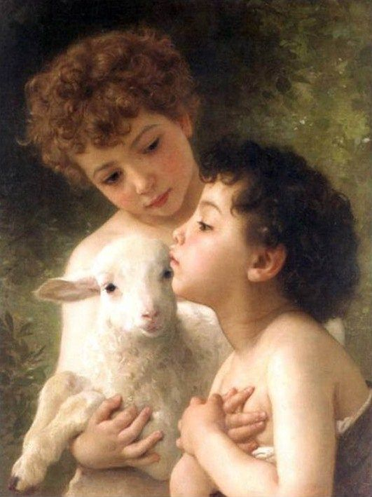 william-adolphe-bouguereau-children-with-the-lamb